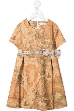 Alviero Martini Map-print flared dress