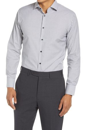 Nordstrom Men's Trim Fit Stripe Non-Iron Dress Shirt