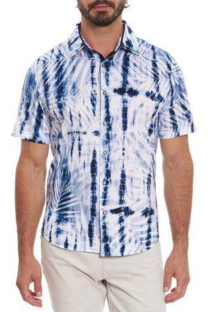 Robert Graham Men's Ink Jet Classic Fit Short Sleeve Button-Up Shirt