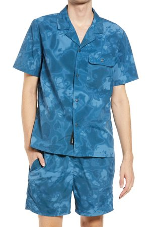 Native Youth Men's Tie Dye Button-Up Camp Shirt