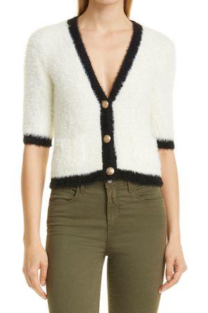 L'Agence Women's Susie Short Sleeve Cardigan