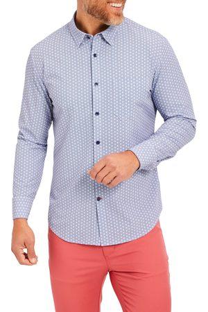 Mizzen+Main Men's Leeward Geo Print Performance Button-Up Shirt