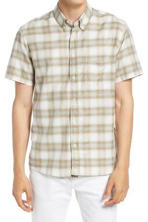 BILLY REID Men's Tuscumbia Regular Fit Plaid Short Sleeve Button-Down Shirt