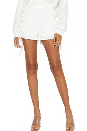 4SI3NNA Women's Emely Side Ruched Knit Shorts