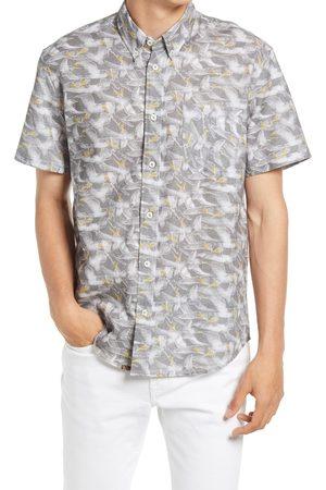 BILLY REID Men's Pelican Sketch Regular Fit Short Sleeve Button-Down Shirt