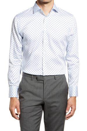Nordstrom Men's Trim Fit Floral Medallion Non-Iron Dress Shirt