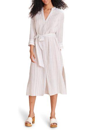 VERONICA BEARD Women's Valima Stripe Belted Midi Shirtdress