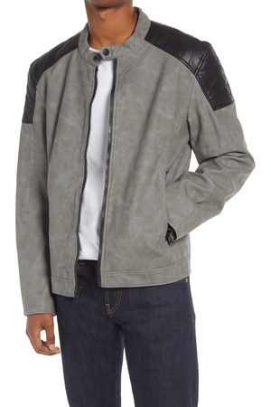 Tommy Hilfiger Men's Quilted Detail Faux Leather Jacket