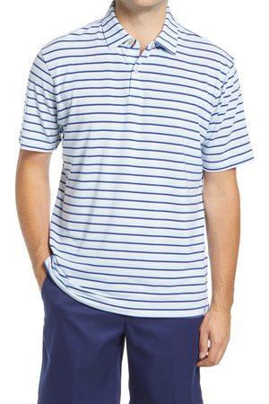 Peter Millar Men's Drirelease Stripe Short Sleeve Performance Polo