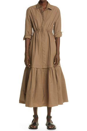 CO Women's Long Sleeve Tiered Dress