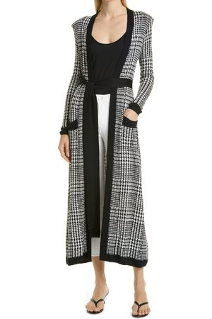 L'Agence Women's Adeline Long Houndstooth Cardigan