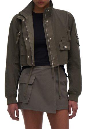 Helmut Lang Women's Military Bomber Crop Cotton Jacket