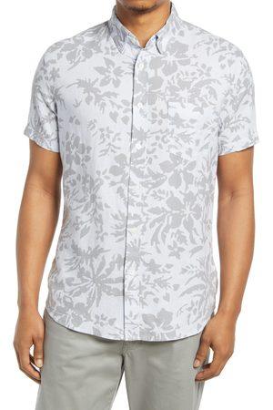 Rails Men Short sleeves - Men's Shadow Mangrove Linen Blend Short Sleeve Button-Up Shirt