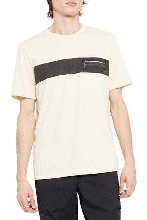 THEORY Men's Essential Bar Stripe Pocket T-Shirt