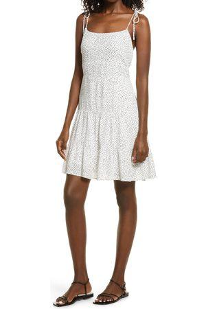Open Edit Women's Double Layer Chiffon Tiered Mini Dress