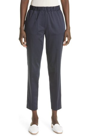 ST. JOHN Women's Straight Leg Cotton Sateen Ankle Pants