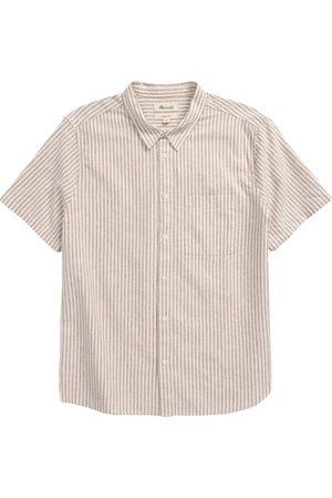 Madewell Men Short sleeves - Men's Perfect Short Sleeve Linen & Cotton Button-Up Shirt