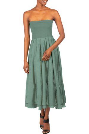 DAI MODA Women's Pintuck Strapless Dress