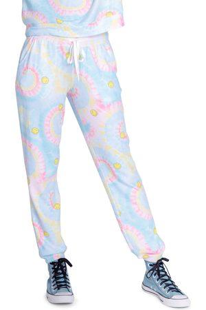 P.J.Salvage Women's Smiley Tie Dye Lounge Pants