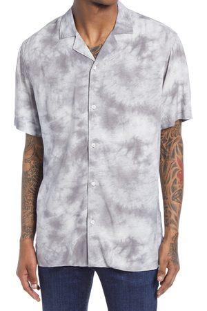 BP. Men's Acid Wash Short Sleeve Button-Up Shirt