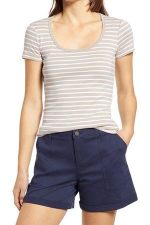 Caslon Women's Caslon Short Sleeve Scoop Neck Tee