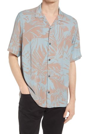 AllSaints Men's Lanai Floral Relaxed Fit Short Sleeve Button-Up Camp Shirt