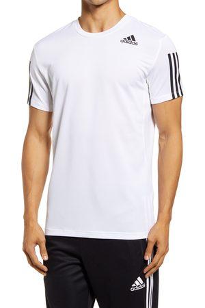 adidas Men's Aero 3-Stripe Stretch T-Shirt