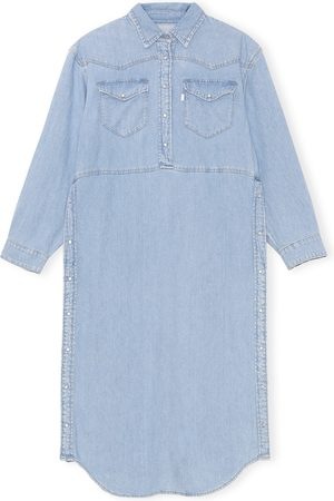 Ganni Women's X Levi's Long Sleeve Denim Shirtdress