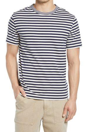 OFFICINE GENERALE Men's Stripe Crewneck T-Shirt