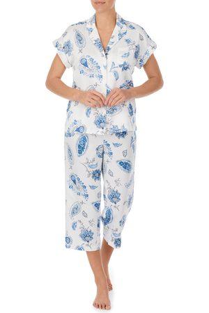 LAUREN RALPH LAUREN Women's Paisley Dolman Sleeve Capri Pajamas