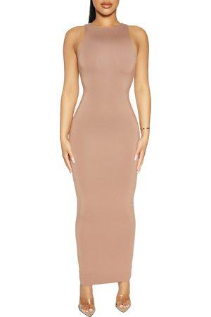 Naked Wardrobe Women's Sleeveless Body-Con Dress