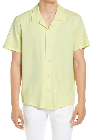 RAG&BONE Men's Avery Knit Short Sleeve Button-Up Camp Shirt