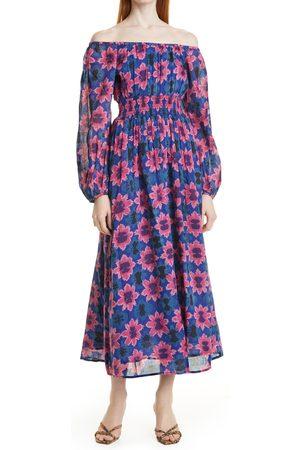 Banjanan Women's Daffodil Off The Shoulder Long Sleeve Midi Dress