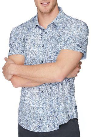 7 Diamonds Men's Harmony Groove Floral Short Sleeve Button-Up Shirt