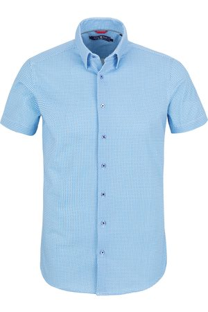 Stone Rose Men's Short Sleeve Tech Knit Button-Up Shirt