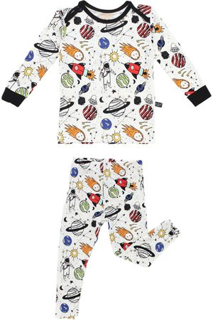 Peregrine Infant Boy's Space Doodle Fitted Two-Piece Pajamas