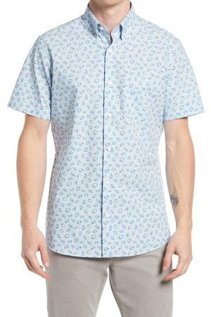Nordstrom Men's Tech-Smart Print Short Sleeve Button-Up Shirt