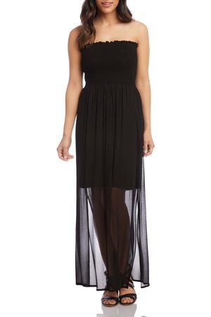 Karen Kane Women's Strapless Smocked Maxi Dress