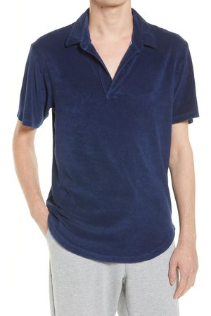 miss goodlife Men's Terry Cloth Polo