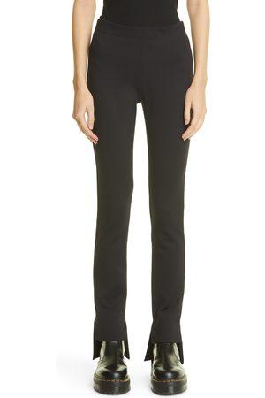 ROSETTA GETTY Women's Step Hem Skinny Stretch Pants