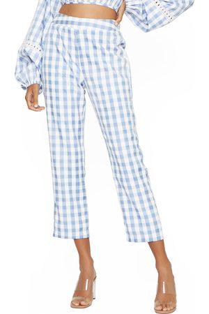 4SI3NNA Women's Sami Gingham Crop Pants