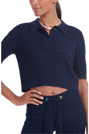 Staud Women's Blaine Cable Crop Polo