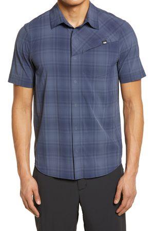 Outdoor Research Men's Astroman Plaid Performance Short Sleeve Snap-Up Sun Shirt