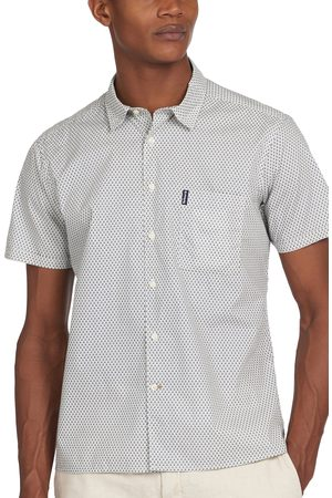 Barbour Men's Geo Print Short Sleeve Button-Up Shirt