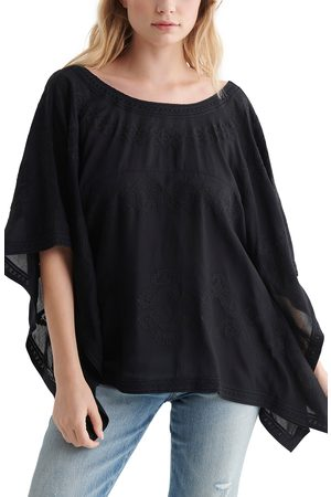 Lucky Brand Women's Lace-Up Back Caftan Top