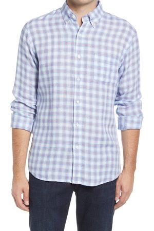 Peter Millar Men's Men's Plaid Linen Button-Down Shirt