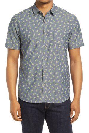 Marine Men's Pineapple Short Sleeve Chambray Button-Up Shirt