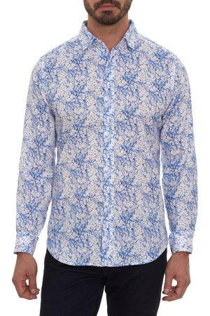 Robert Graham Men's Newsted Classic Fit Linen Blend Button-Up Shirt