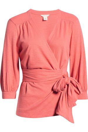 Caslon Women's Caslon Jersey Wrap Top