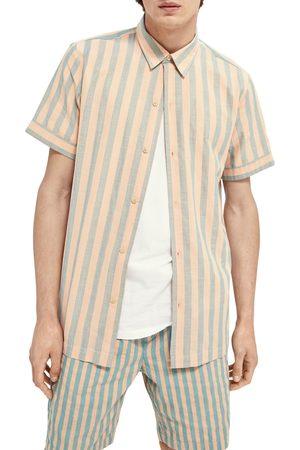 Scotch&Soda Men's Relaxed Fit Short Sleeve Button-Up Shirt